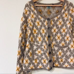 Anthropologie HWR Wool Cardigan Sweater